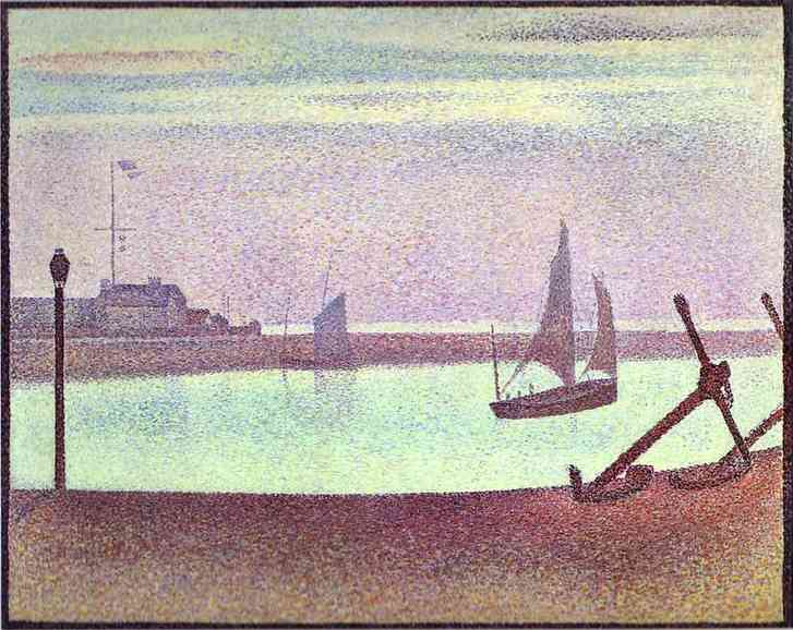 The Channel Of Gravelines Evening 1890 | Georges Seurat | Oil Painting