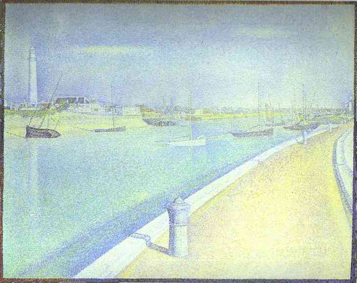The Channel Of Gravelines Petit Fort Philippe 1890 | Georges Seurat | Oil Painting