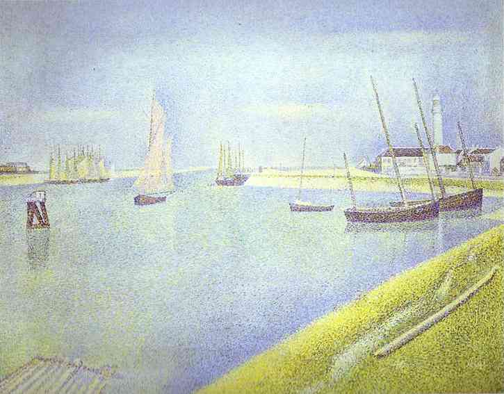 The Channel Of Gravelines The Direction To The Sea 1890 | Georges Seurat | Oil Painting
