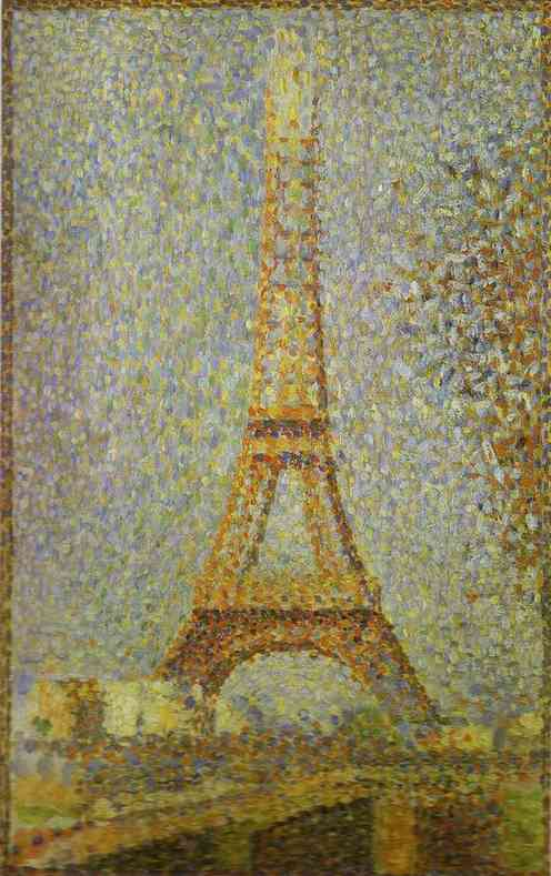 The Eiffel Tower 1889 | Georges Seurat | Oil Painting