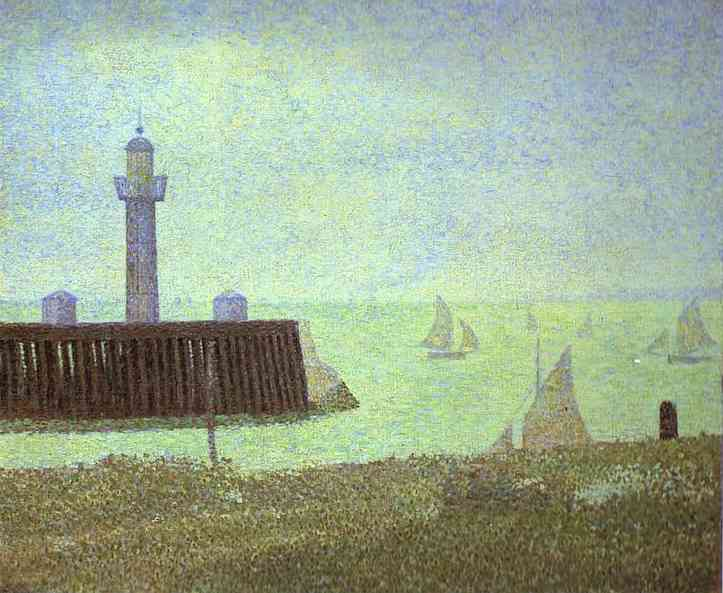 The End Of A Jetty Honfleur 1886 | Georges Seurat | Oil Painting
