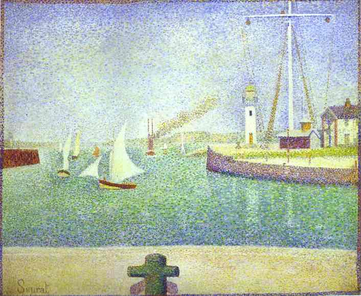 The Harbour Entrance Honfleur 1886 | Georges Seurat | Oil Painting
