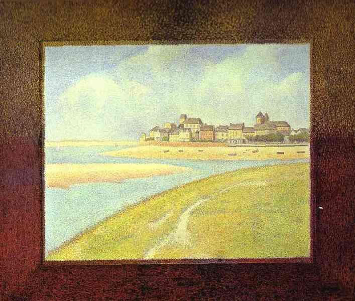 View Of Crotoy The Hill 1889 | Georges Seurat | Oil Painting