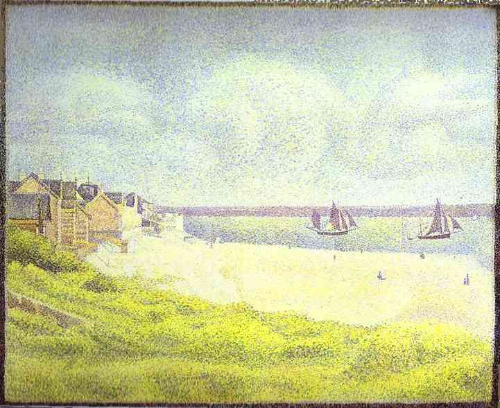 View Of Crotoy The Valley 1889 | Georges Seurat | Oil Painting