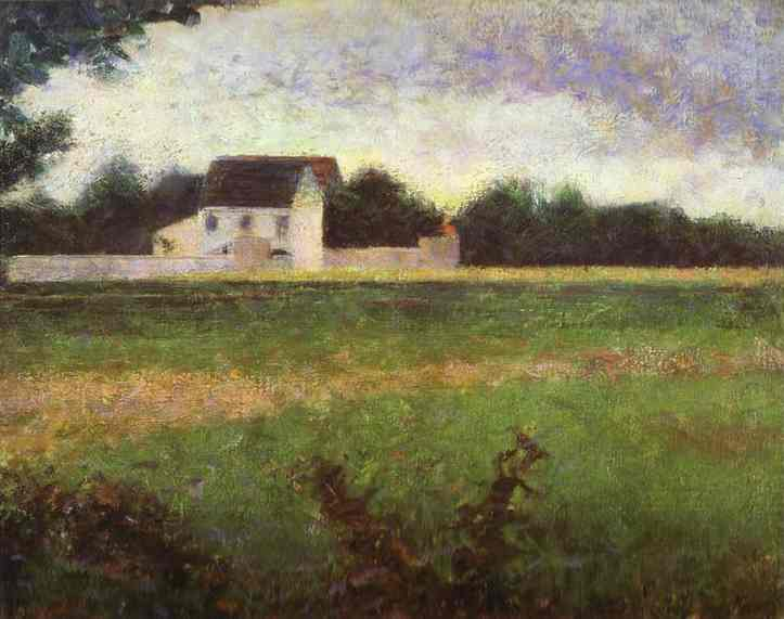 View Of Llle De France 1882 | Georges Seurat | Oil Painting
