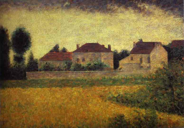 Ville Davray White Houses 1882 | Georges Seurat | Oil Painting