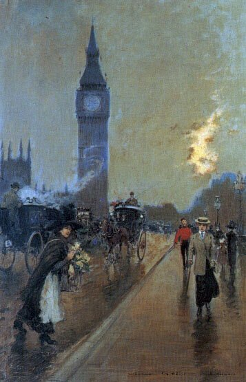 A View of Big Ben London | Georges Stein | Oil Painting