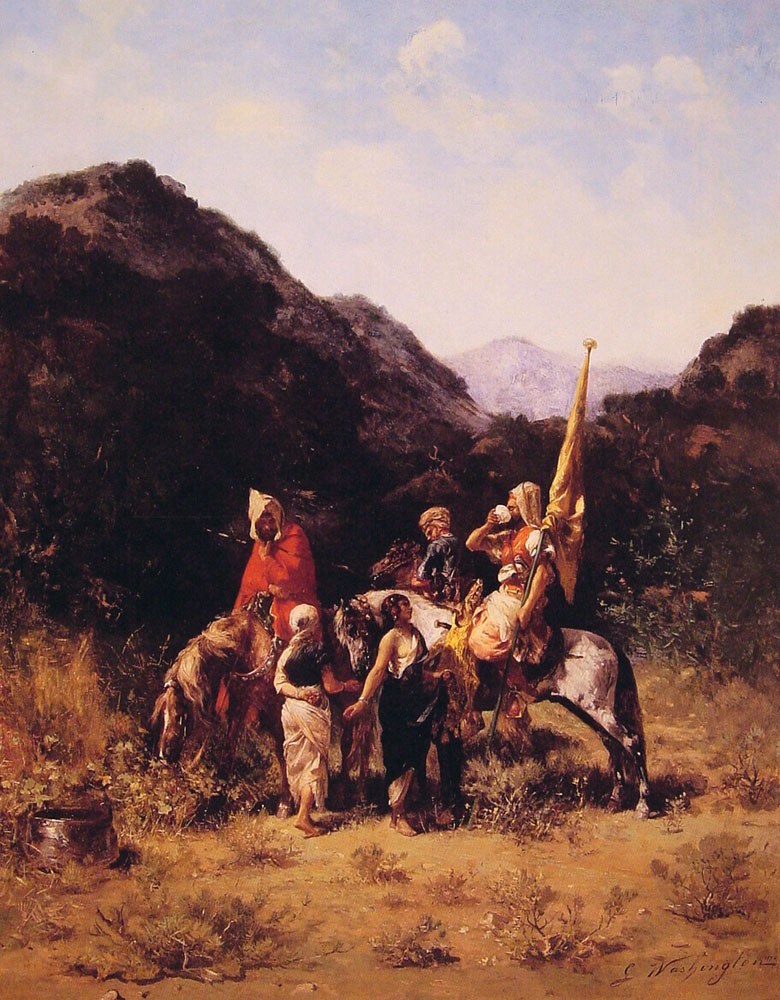 Riders in the Mountain | Georges Washington | Oil Painting
