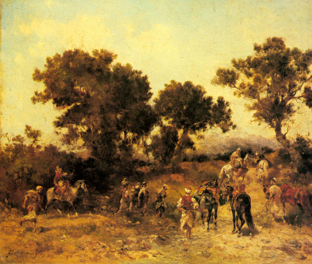 An Arab Hunting Party | Georges Washington | Oil Painting