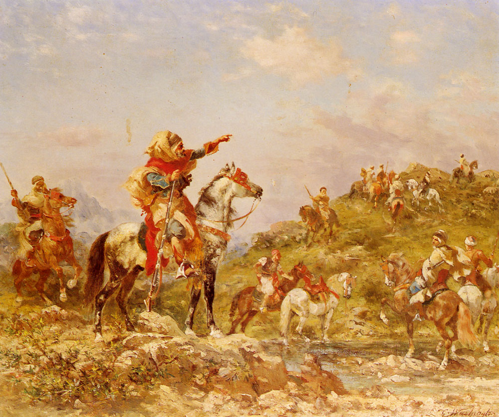 Warriors on Horseback | Georges Washington | Oil Painting