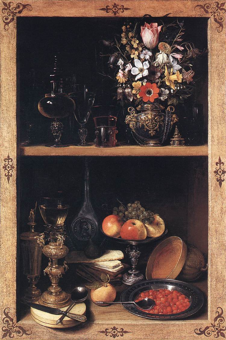 Cupboard 1610 | George Flegel | Oil Painting