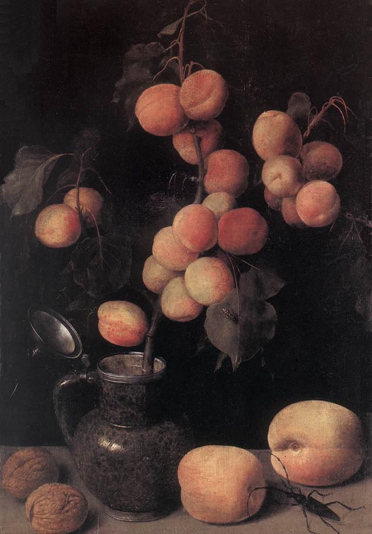 Peaches 1630 | George Flegel | Oil Painting