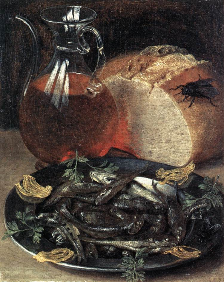 Still Life With Fish 1637 | George Flegel | Oil Painting