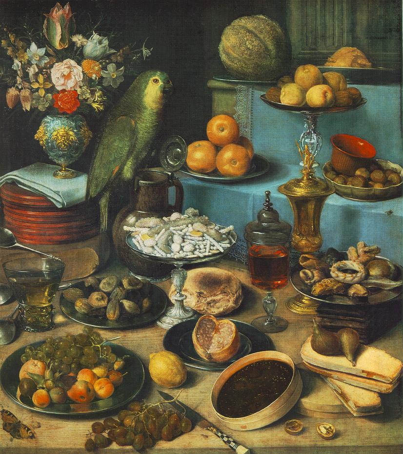 Still Life With Parrot | George Flegel | Oil Painting