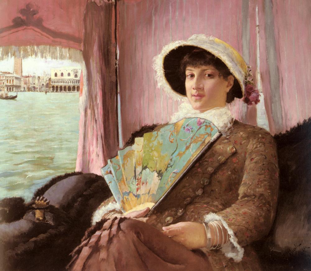 Girl in a Gondola | Georg Pauli | Oil Painting