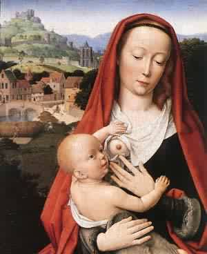 Mary And Child (Detail) 1490 | Gerard David | Oil Painting