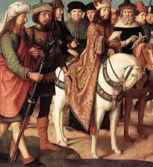 Pilates Dispute With The High Priest 1480-85 | Gerard David | Oil Painting