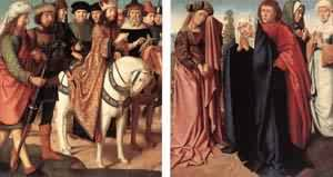 Pilates Dispute With The High Priest The Holy Women   Gerard David   Oil Painting