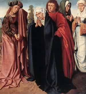 The Holy Women And St John At Golgltha 1480-85 | Gerard David | Oil Painting