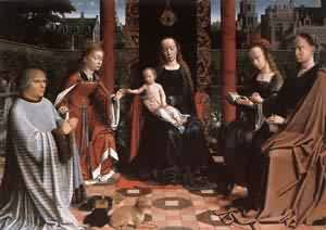 The Mystic Marriage Of St Catherine 1505-10   Gerard David   Oil Painting