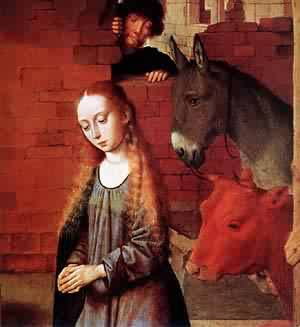 The Nativity (Detail) 1490 | Gerard David | Oil Painting
