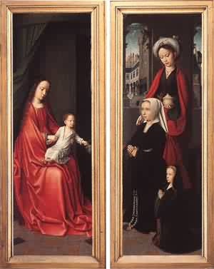 Triptych Of Jan Des Trompes (Rear Of The Wings) 1505 | Gerard David | Oil Painting
