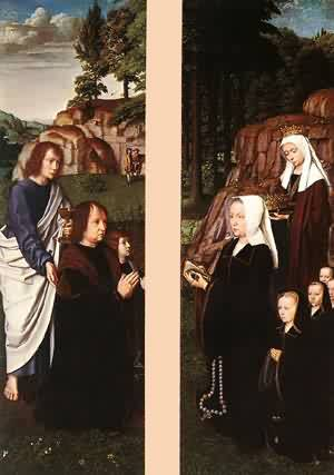 Triptych Of Jean Des Trompes (Side Panels) 1505 | Gerard David | Oil Painting
