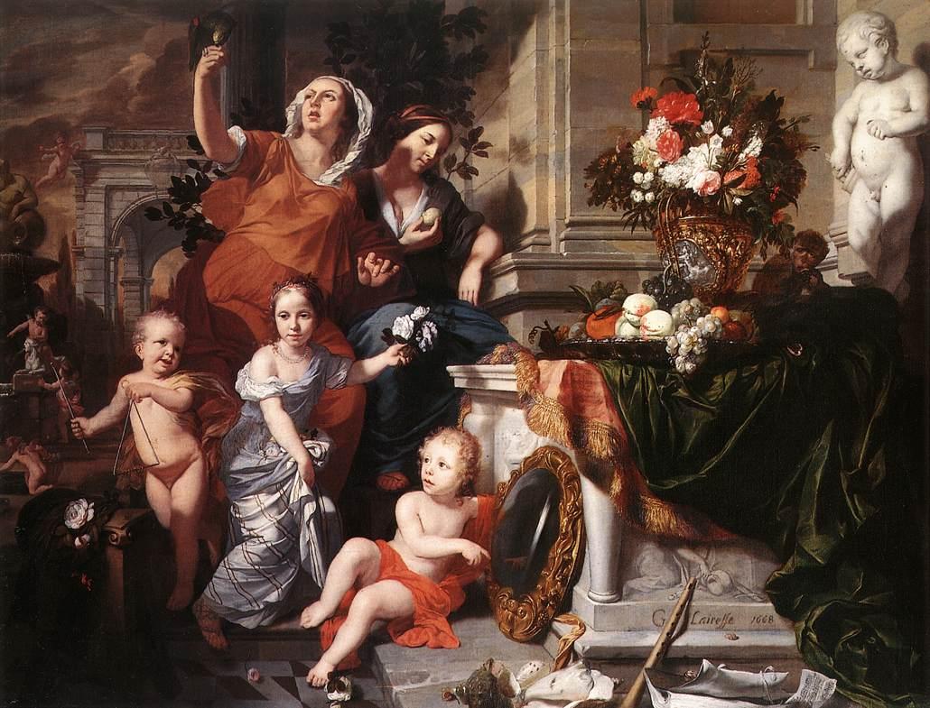 Allegory Of The Five Senses 1668 | Gerard De Lairesse | Oil Painting