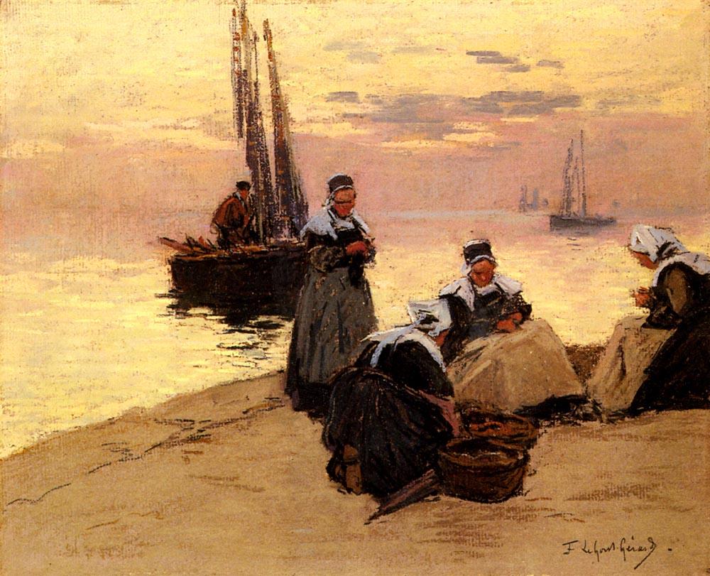 Breton Fisherwomen | Gerard Fernand Marie Eugene Legout | Oil Painting
