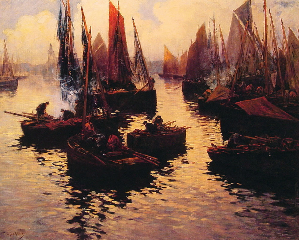 After the Days Catch | Gerard Fernand Marie Eugene Legout | Oil Painting