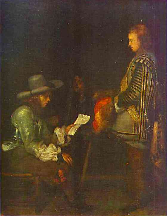 An Officer Reading A Letter 1657-58 | Gerard Terborch | Oil Painting