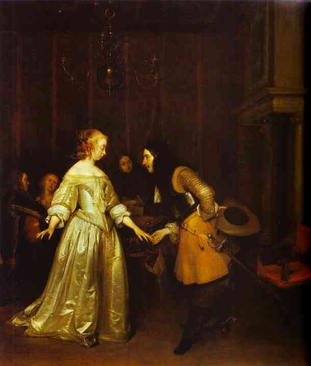A Dancing Couple 1660 | Gerard Terborch | Oil Painting