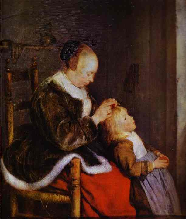 Motherly Care 1654 | Gerard Terborch | Oil Painting
