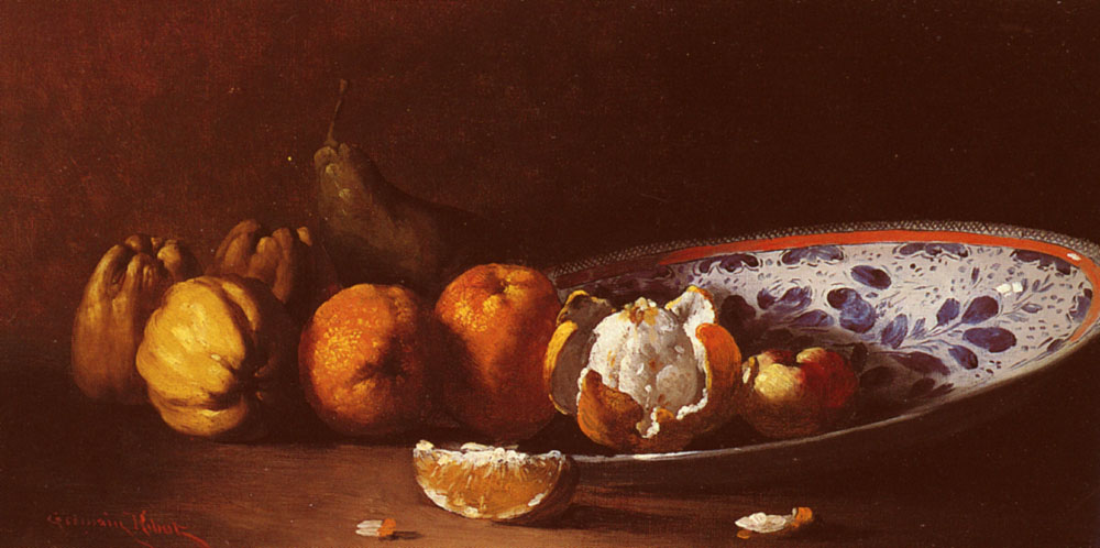 Clement Nature Morte Aux Fruits | Germain Theodule Clement Ribot | Oil Painting