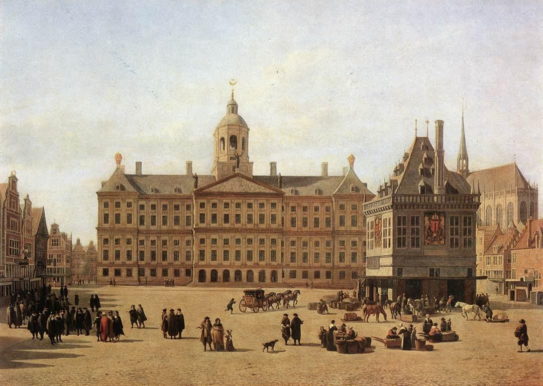 Dam Square Amsterdam | Gerrit Adriaensz Berckheyde | Oil Painting