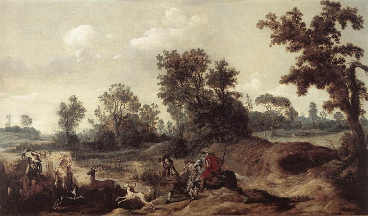 Stag Hunting in the Dunes 1625-29 | Gerrit Claesz Bleker | Oil Painting