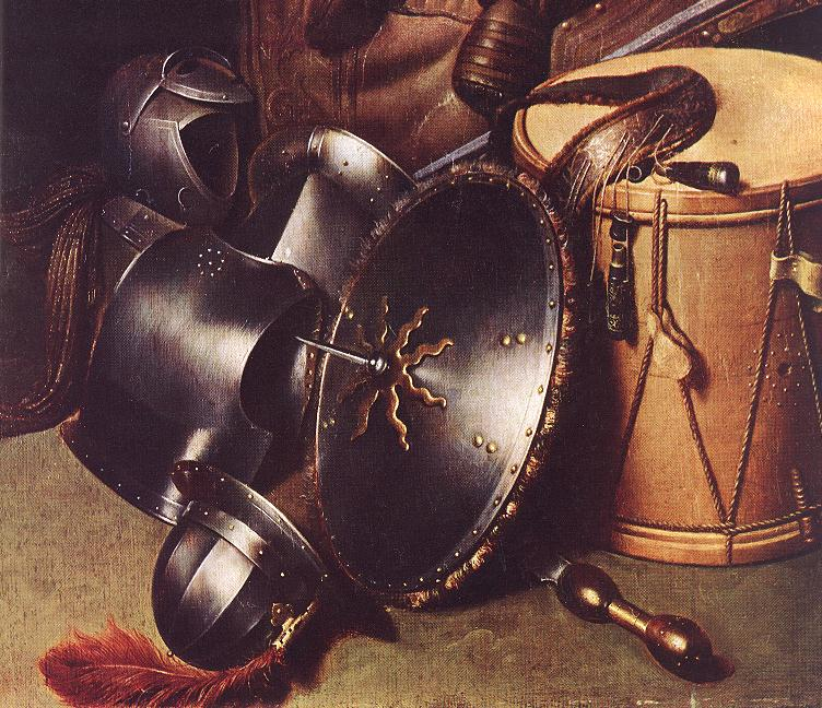 Officer Of The Marksman Society In Leiden (Detail) 1630 | Gerrit Dou | Oil Painting