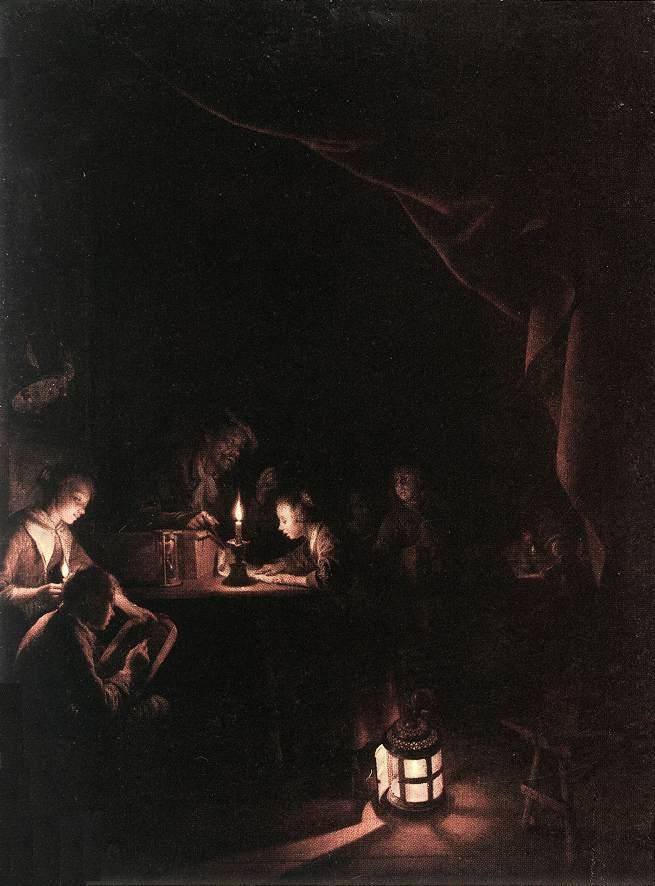 The Evening School Rijksmuseum Amsterdam | Gerrit Dou | Oil Painting