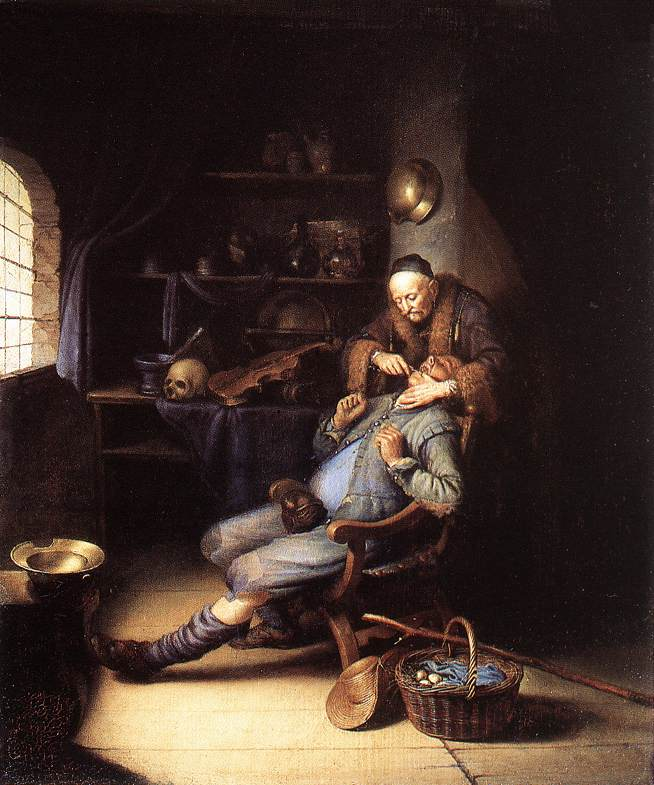 The Extraction Of Tooth 1630-35 | Gerrit Dou | Oil Painting