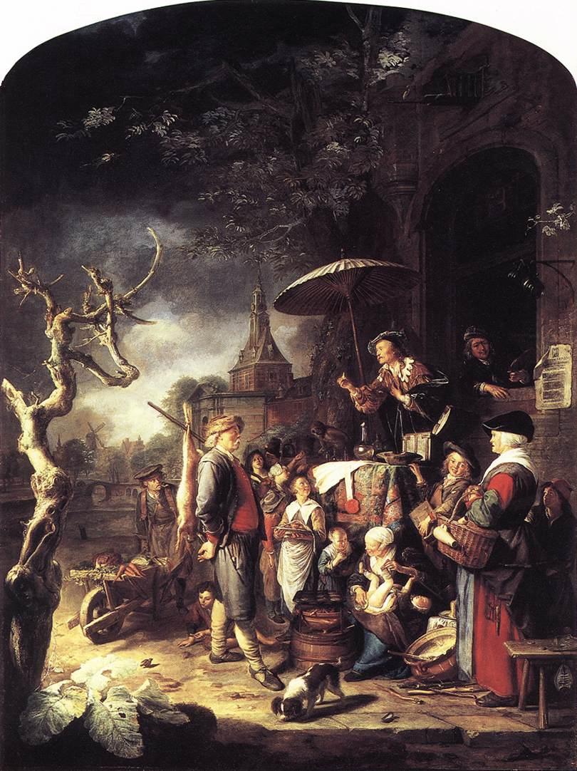 The Quack 1652 | Gerrit Dou | Oil Painting