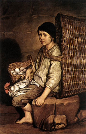 Boy With A Basket 1745 | Giacomo Ceruti | Oil Painting