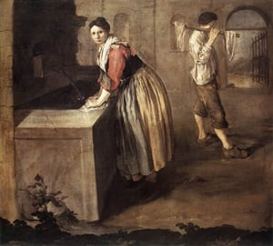 The Laundress 1736 | Giacomo Ceruti | Oil Painting