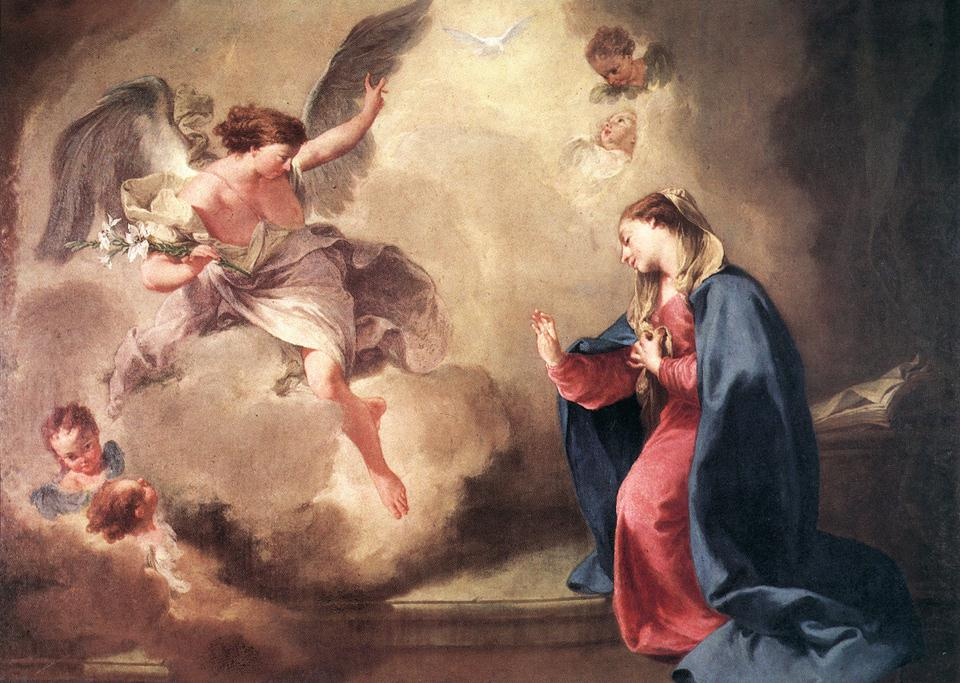 Annunciation 1758 | Giambattista Pittoni | Oil Painting