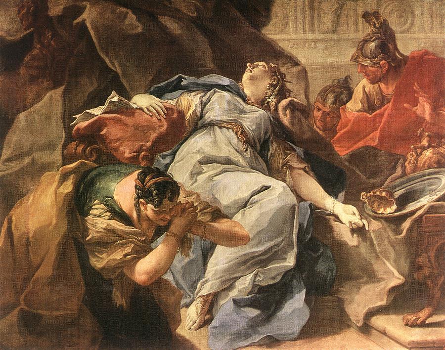 Death Of Sophonisba | Giambattista Pittoni | Oil Painting