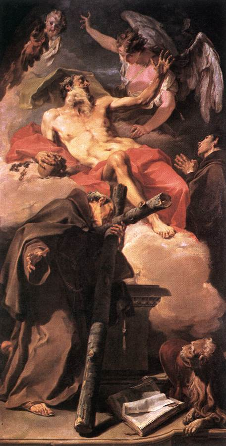 St Jerome and Peter of Alcantara | Giambattista Pittoni | Oil Painting