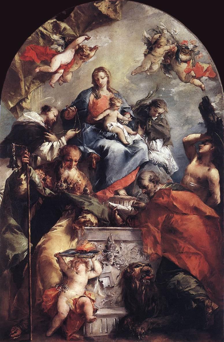 Madonna And Saints 1746-48 | Gianantonio Guardi | Oil Painting