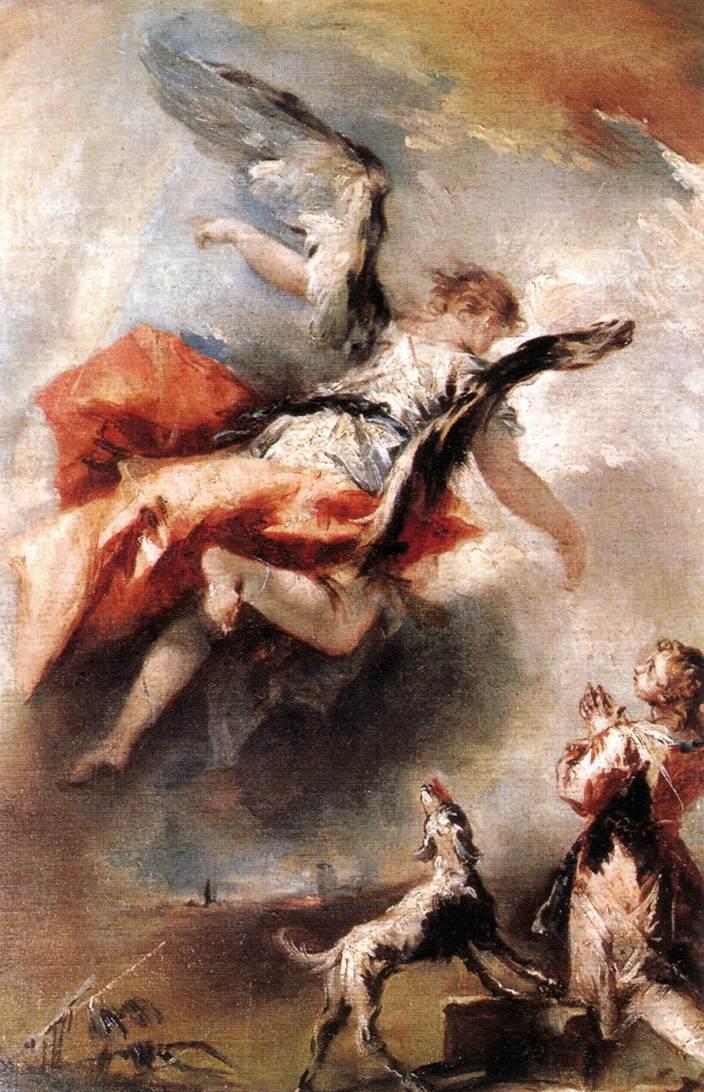 The Angel Appears To Tobias 1750 | Gianantonio Guardi | Oil Painting