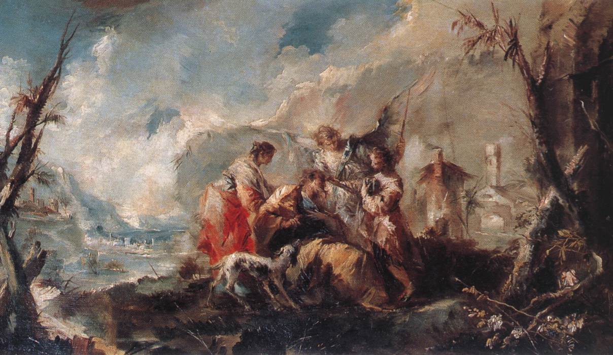 The Healing Of Tobiass Father 1750 | Gianantonio Guardi | Oil Painting