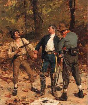 Captured by Confederates | Gilbert Gaul | Oil Painting