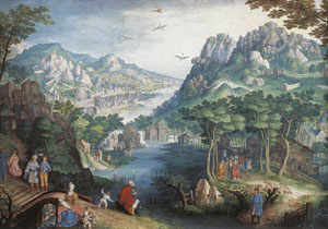 Mountain Landscape With River Valley And The Prophet Hosea | Gillis Van Coninxloo | Oil Painting